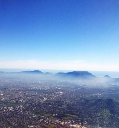 Cape Town from plane